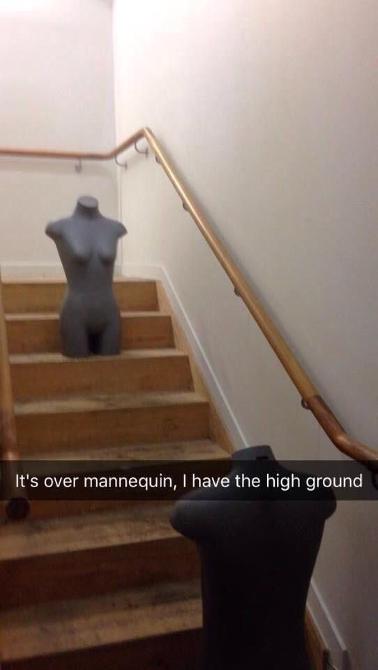 It's over mannequin