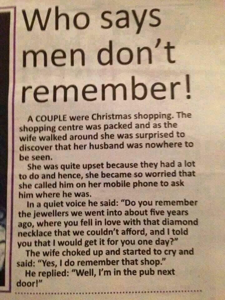 Men too remember