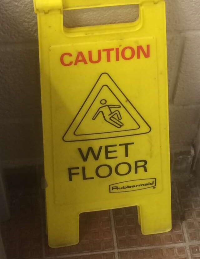 This wet floor sign I found