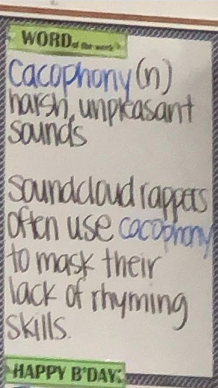 My English Teacher's word of the week