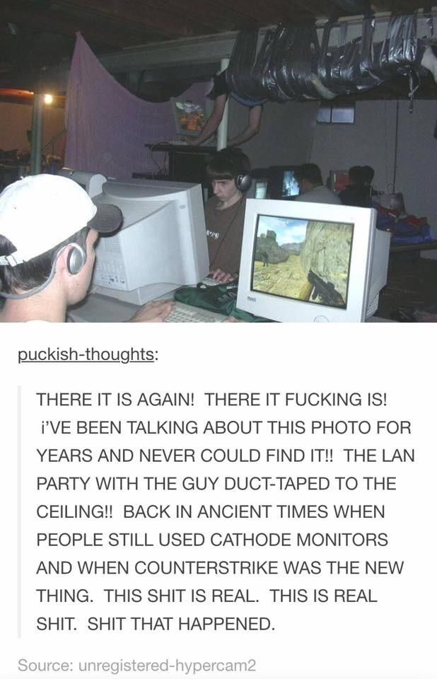 Old School LAN Party with a twist