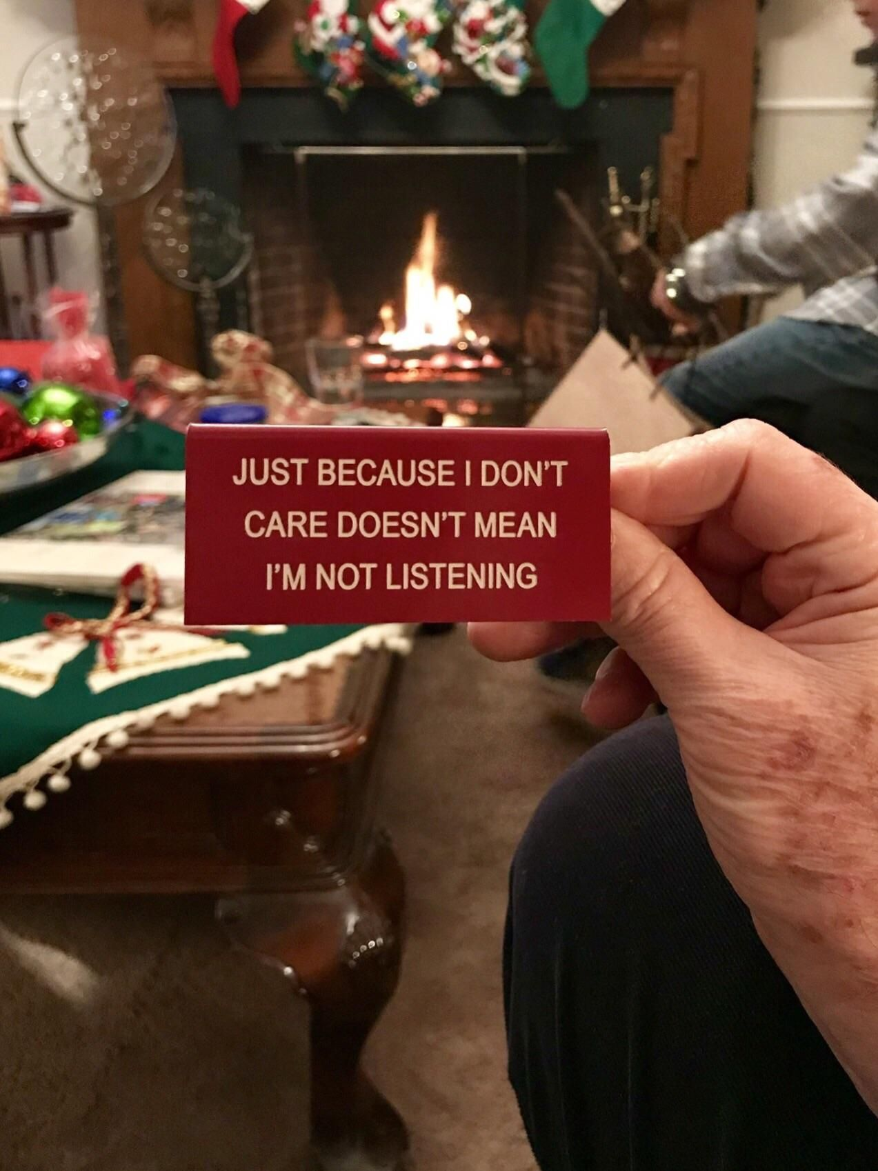 Extremely appropriate Xmas gift my grandfather received