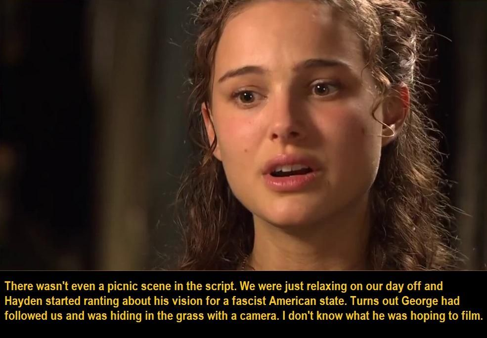 Natalie Portman on Attack of the Clones