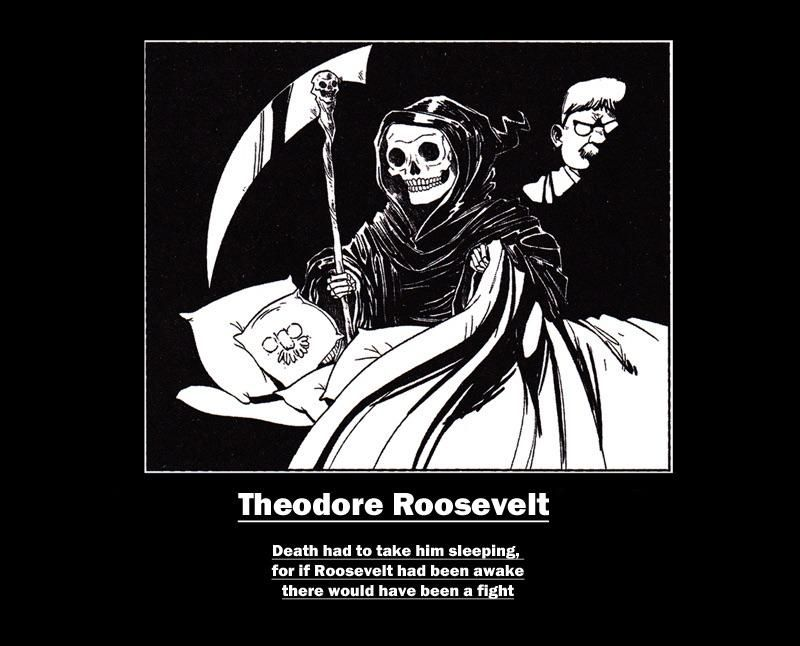 My favorite quote about the life and death of Theodore Roosevelt