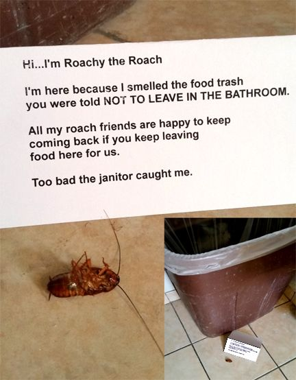 Passive Aggressive Office Janitor Leaves Note