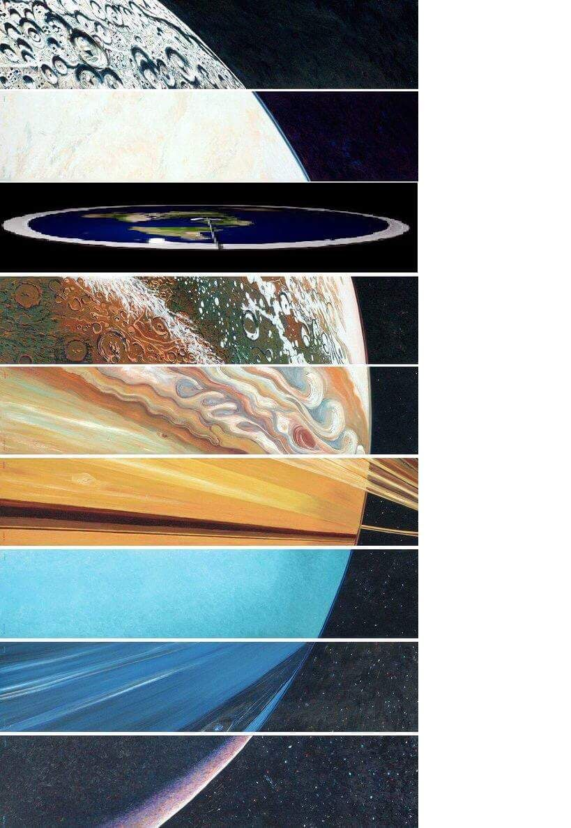 The curvature of each planet is important