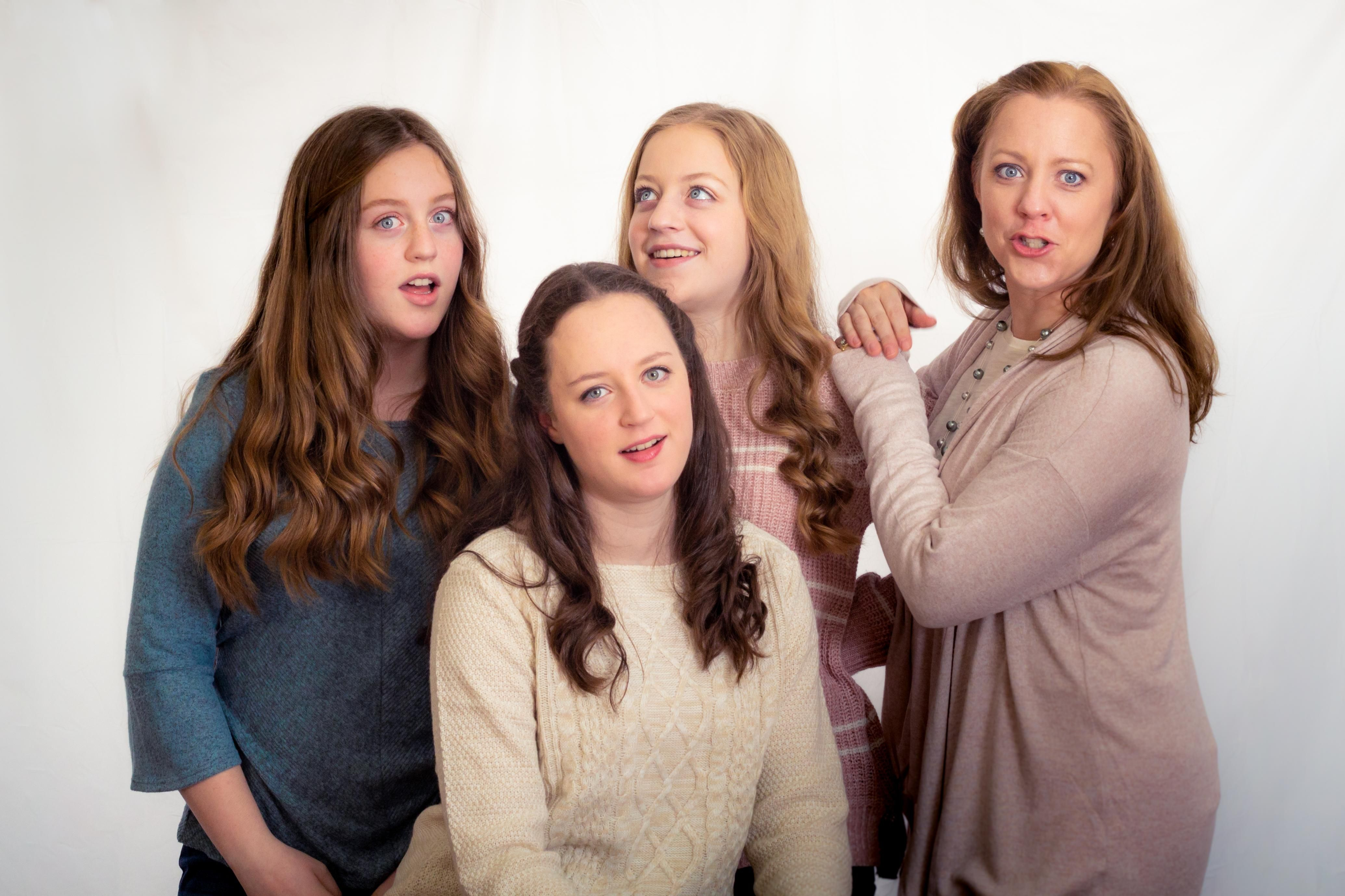 I needed my wife and daughters to smile during a photo shoot, so I told a dad joke.