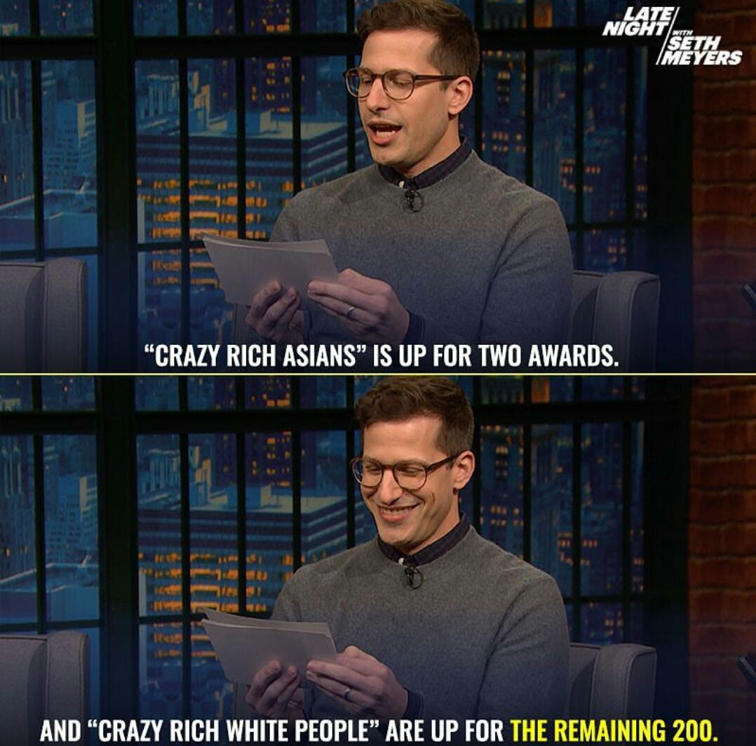 Rejected Andy Samberg's Golden Globe jokes