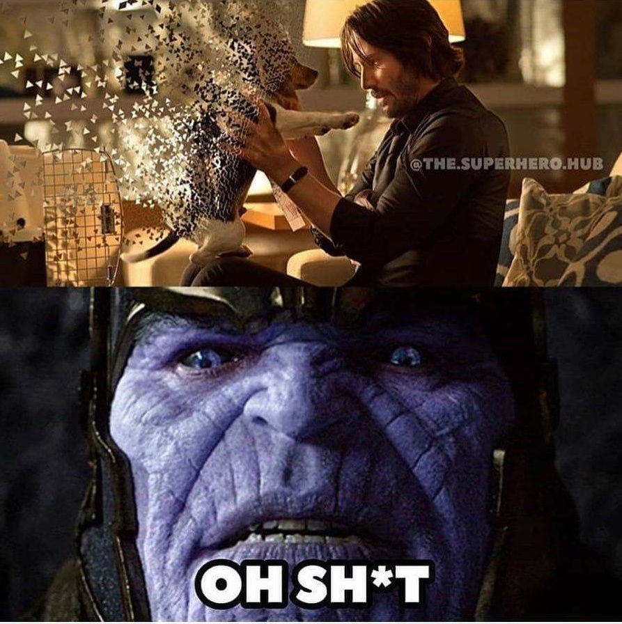 When Thanos realized he ***ed up