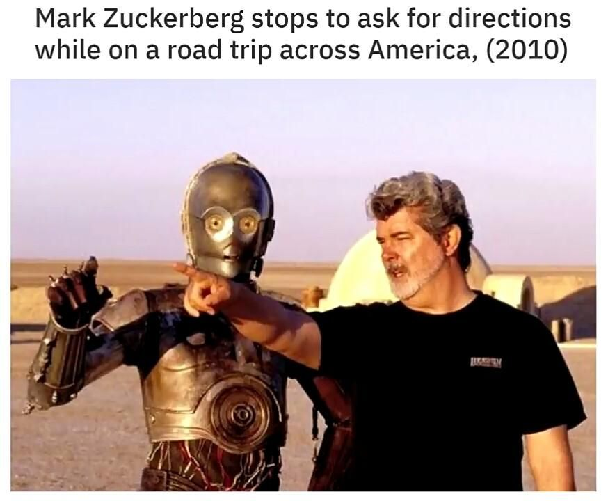 Mark Zuckerberg on a roadtrip.