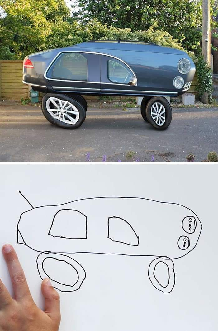 When drawing becomes reality...