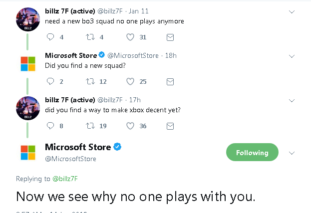 MS Store throwing shades