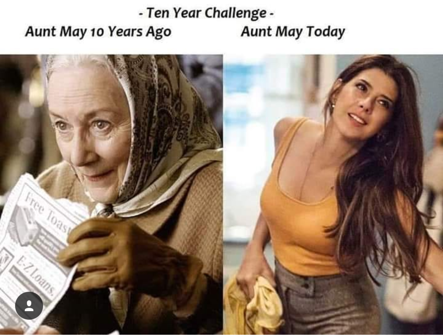 Can you beat Aunt May with your #30YearsChallenge