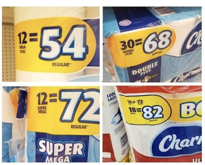 Toilet paper math is the hardest kind of math.