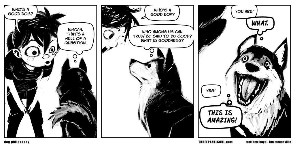 Philosophical dog.