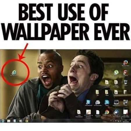 Best use of wallpaper ever