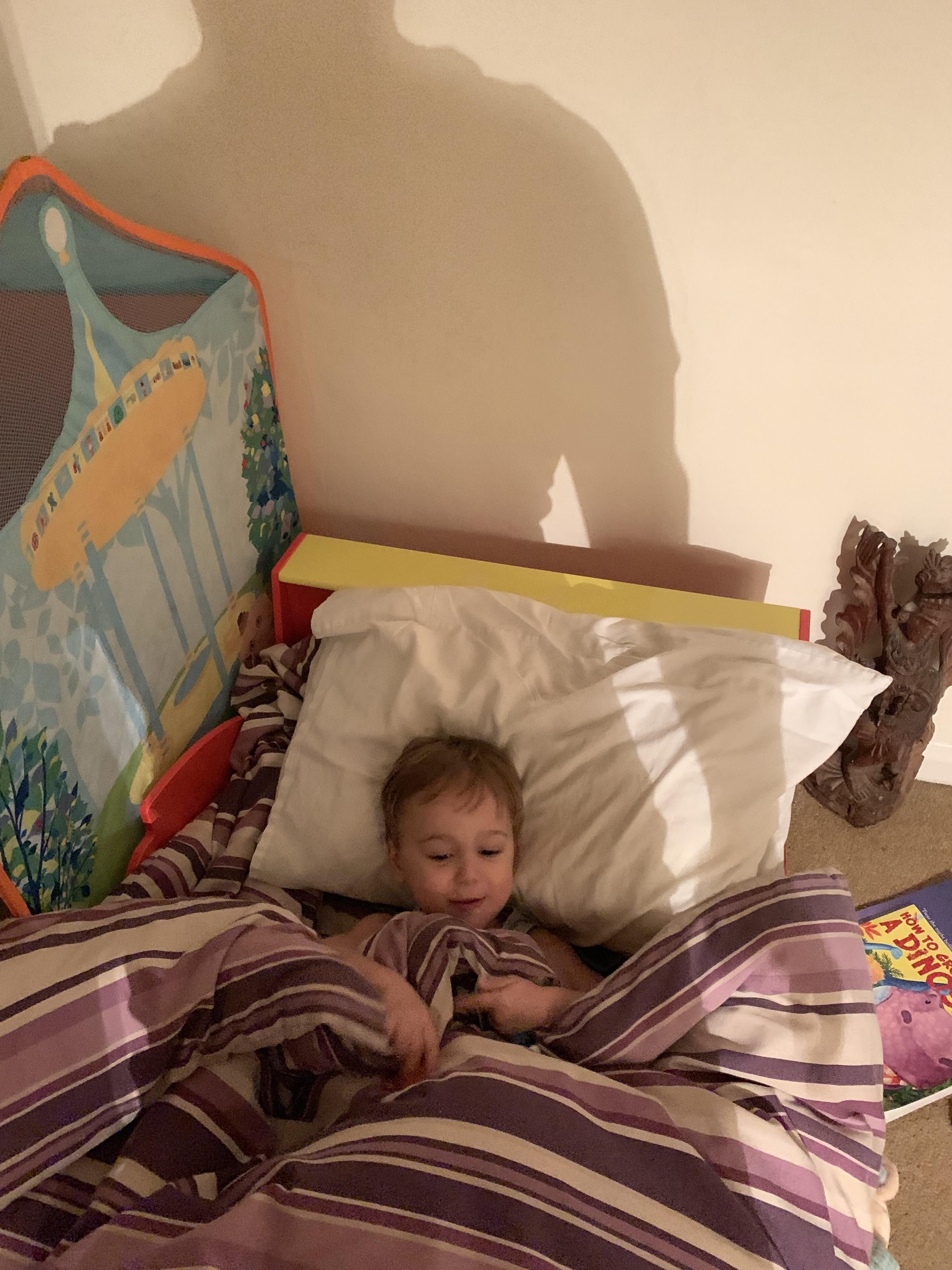 The photo meant to ensure my wife I had put our son to bed turned out quite sinister.