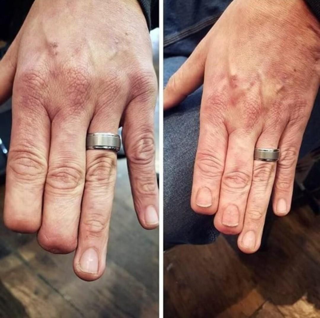 "The tattoo artist ""nailed"" it"