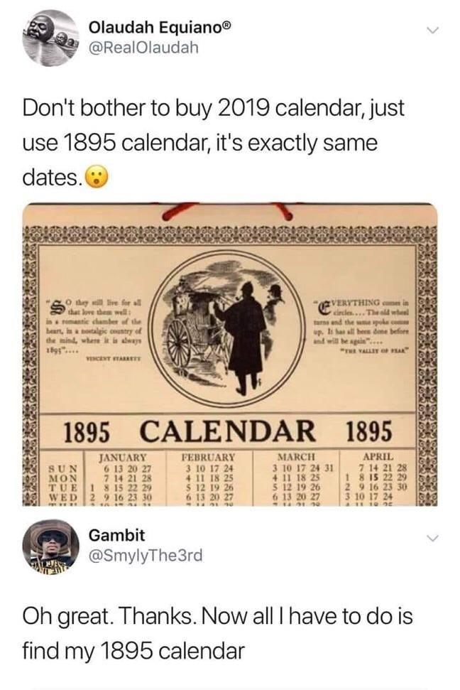 Find 1895 calendar! Go for that mission!!