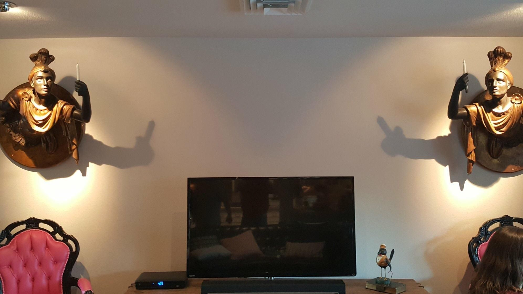 Unforeseen shadow puppetry