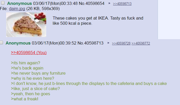 The one time someone made a greentext about me