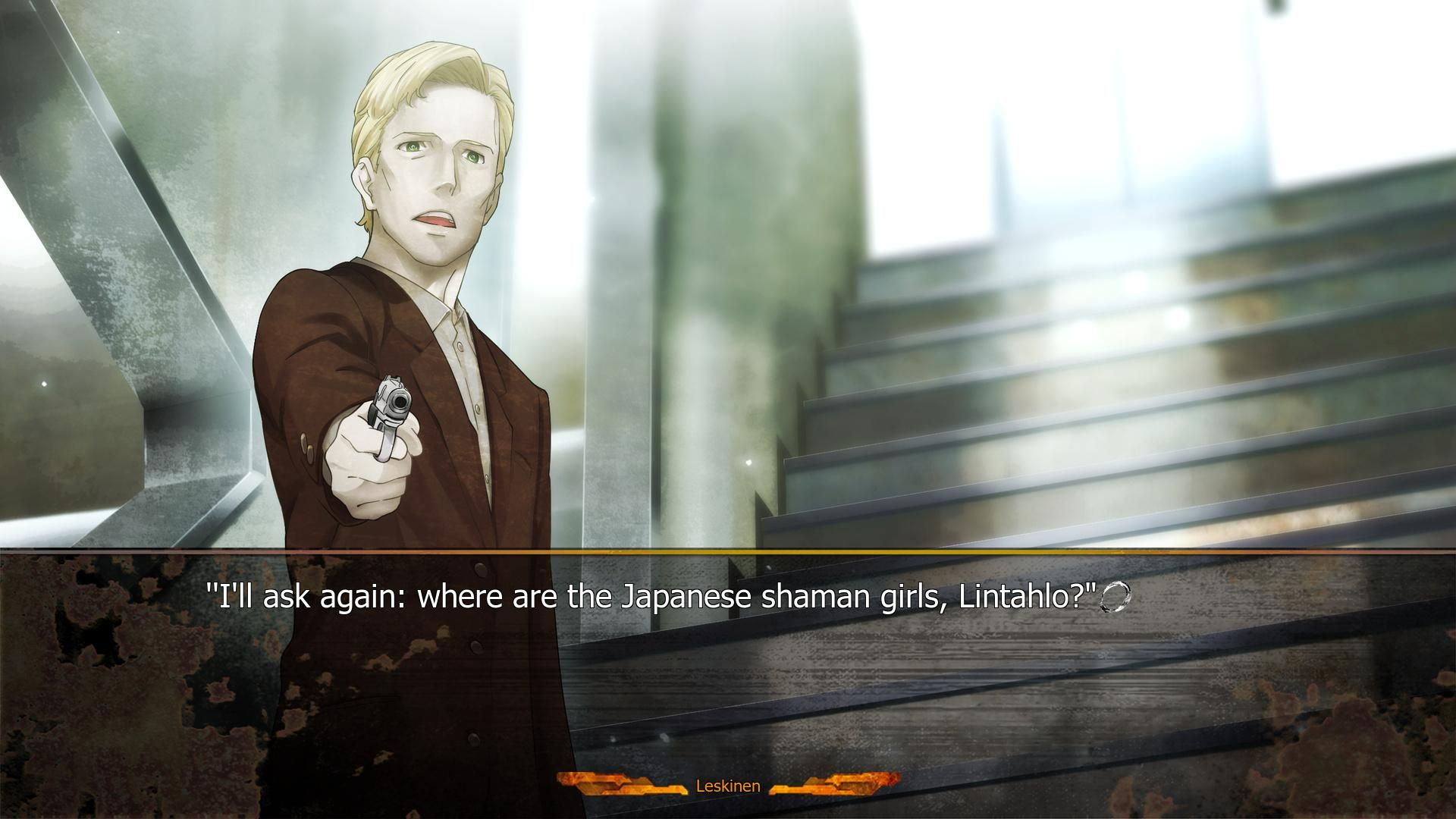 Final battle with Leskinen in Steins;Gate 0