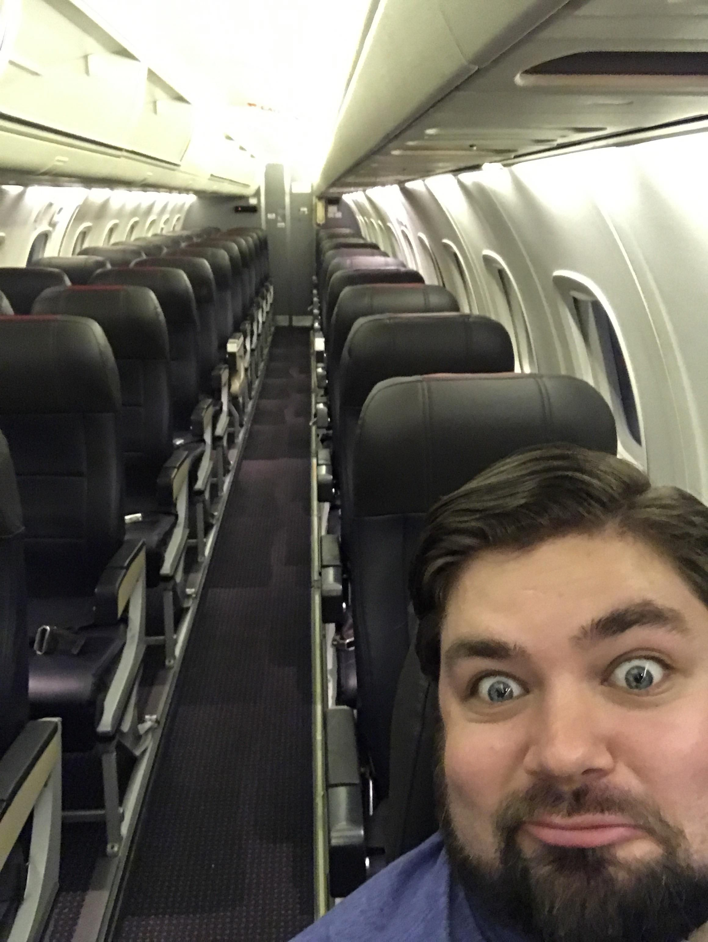 I, too, can pretend to be the only passenger by boarding first!