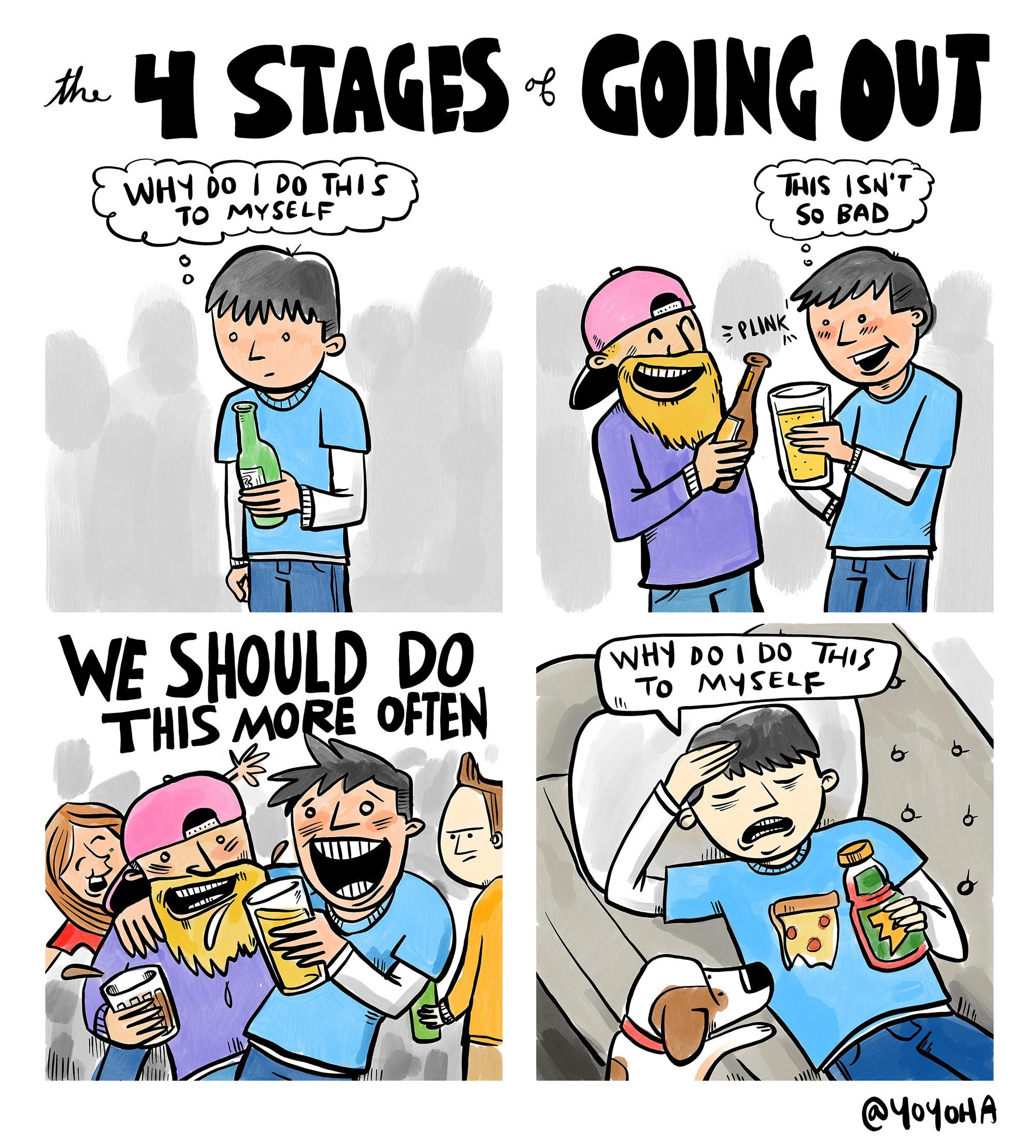 the 4 stages of going out