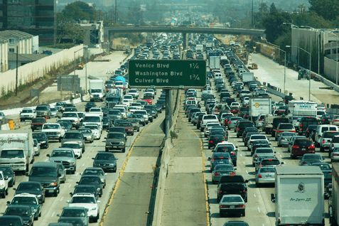 Time-Lapse of Los Angeles traffic