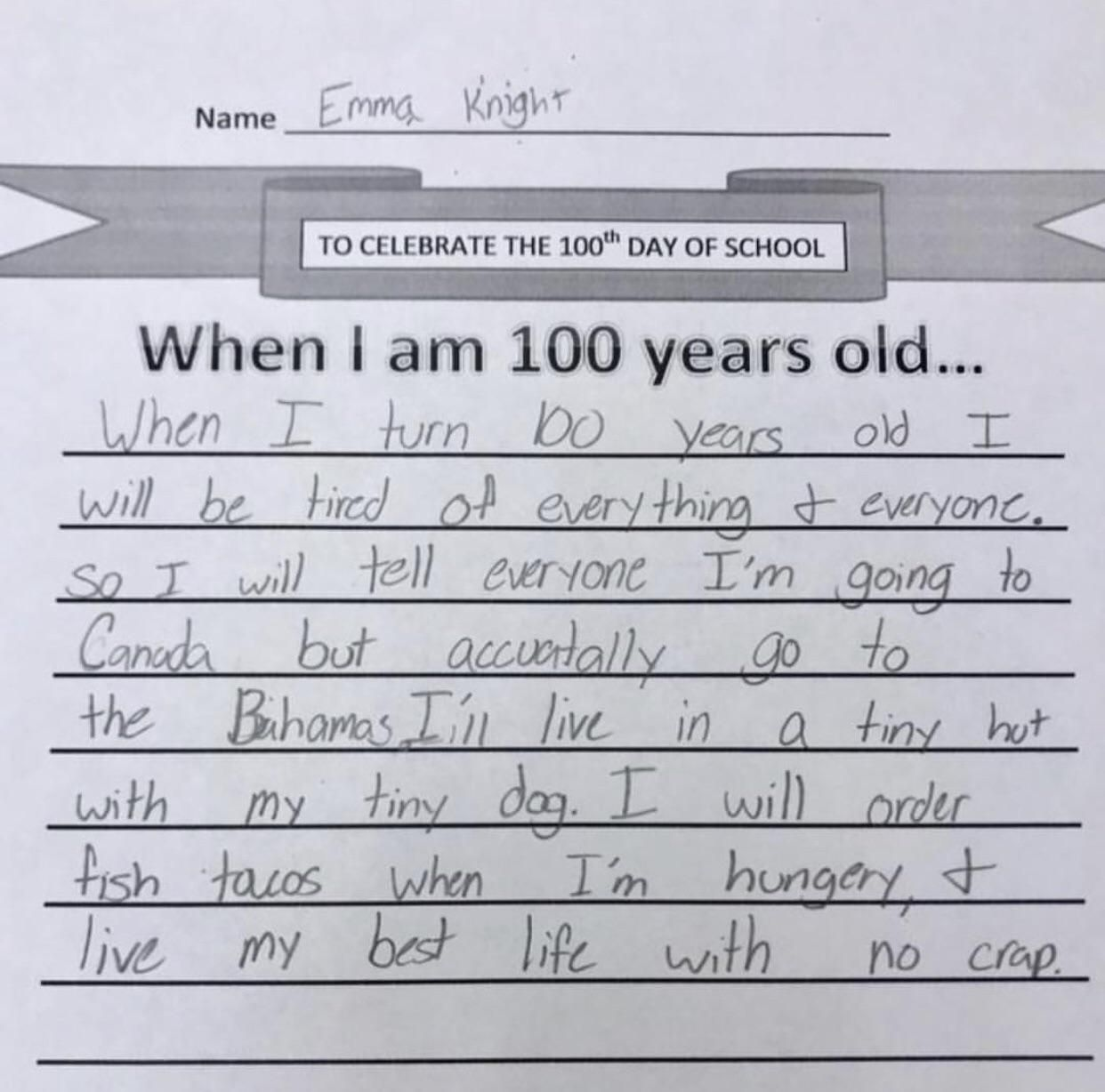 This kid gets life!