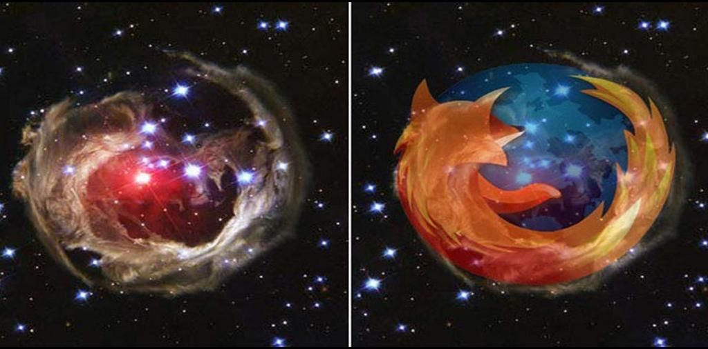 Astronomers just located the Firefox nebula. It's an open source cluster.