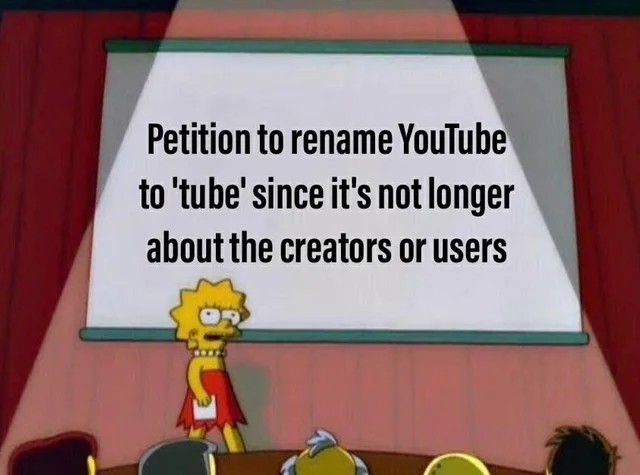 And it is about dead content creators that no one has ever heard of