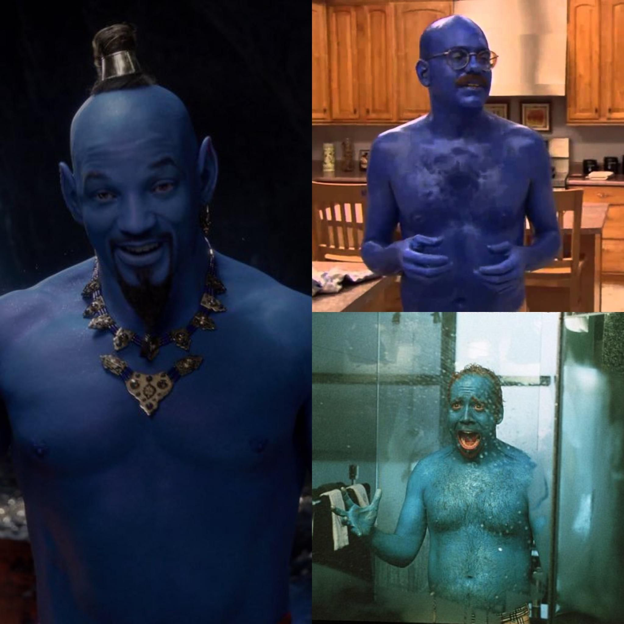 So they finally revealed the look of Will Smith's genie.