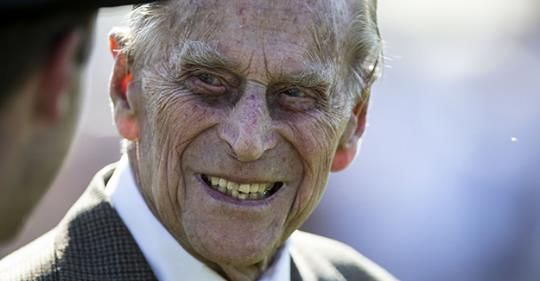 97 year old Prince Philip looks like the villian in all the old vampire movies.