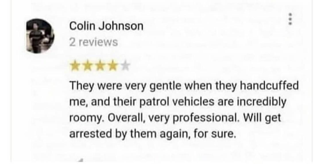 this police department review is everything