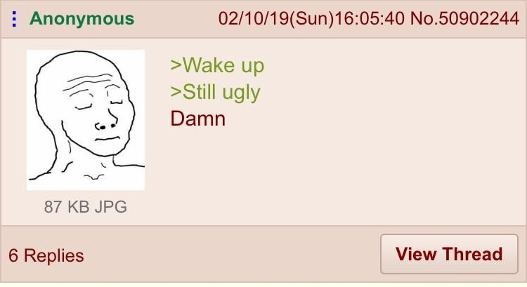 Anon wakes up