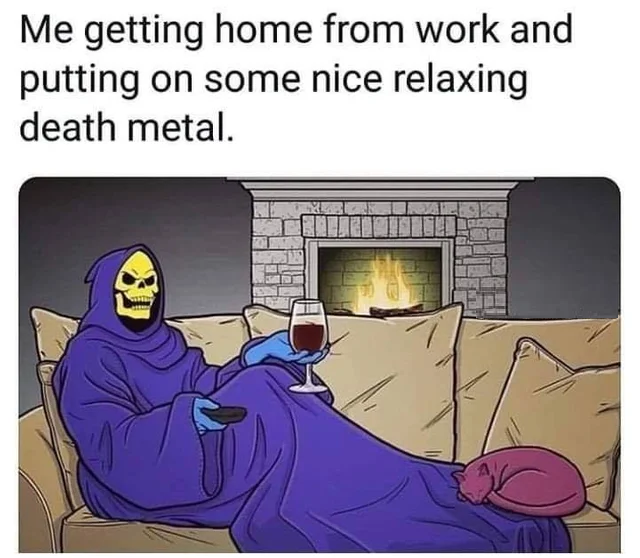 I can finally relax