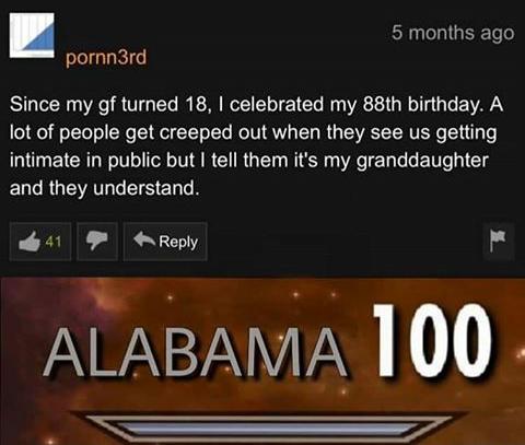 ewww she already turned 18
