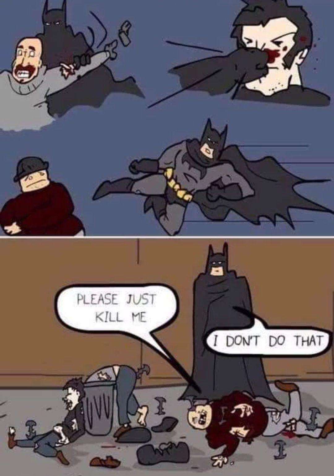 Batman has standards