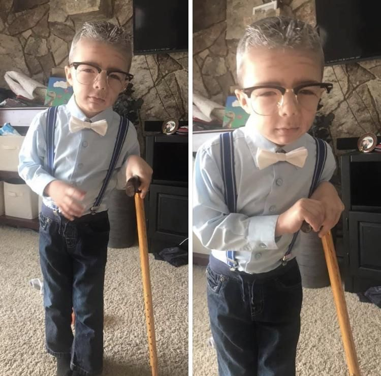 My nephew on his 100th day of school