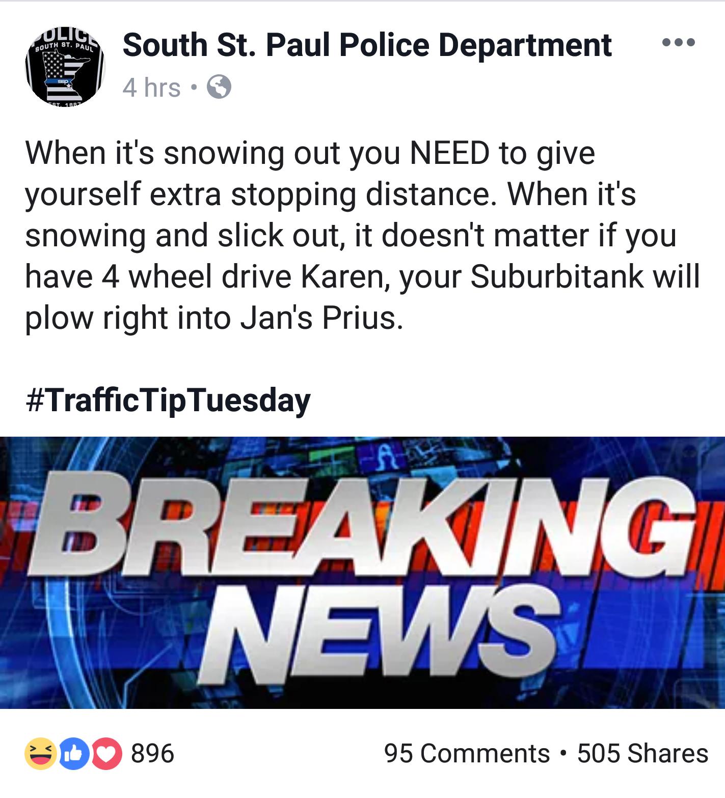 Local PD is sick of Karen's shit