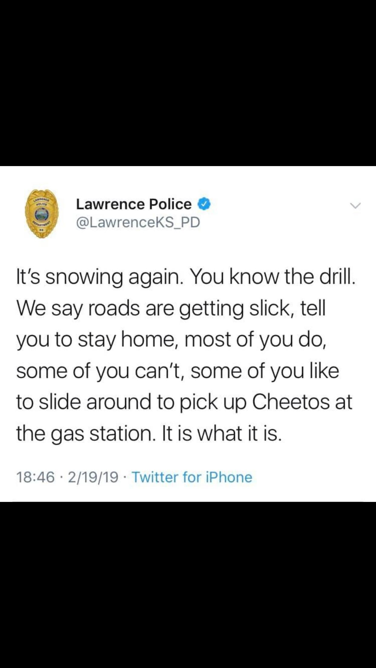 Lawrence PD is at it again