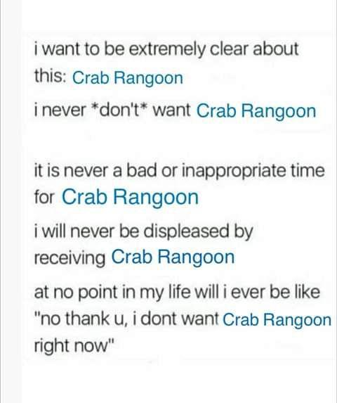 I M A Real Slut For Crab Rangoon