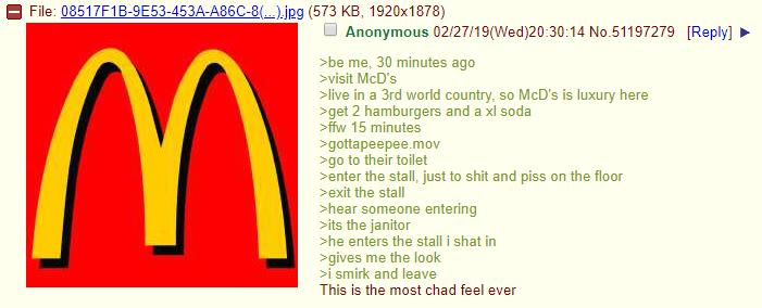Anon visits mcdonalds