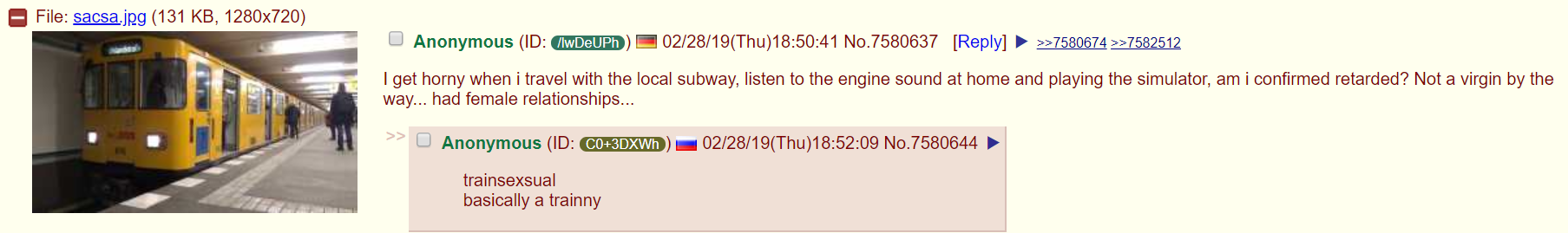 Anon is a trainny