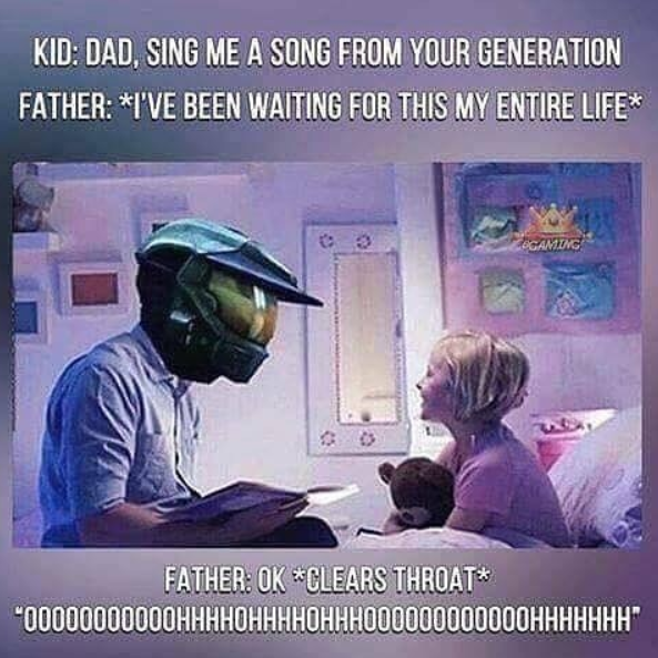 Master Chief would make a great dad