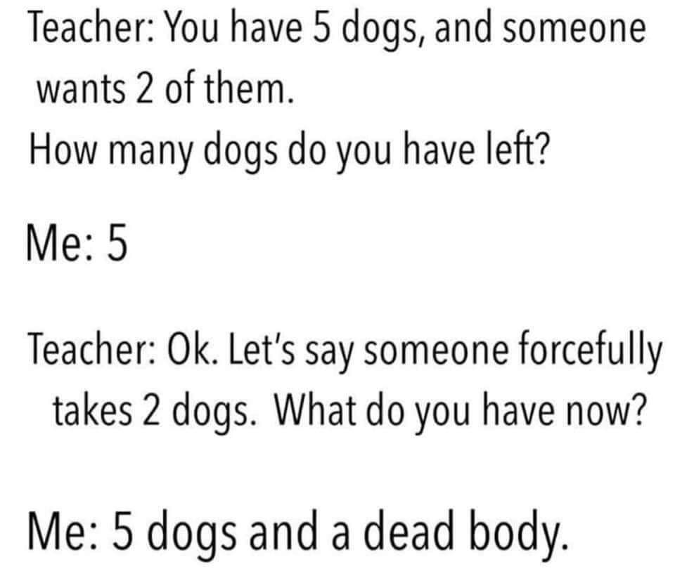Dogs are fimily.