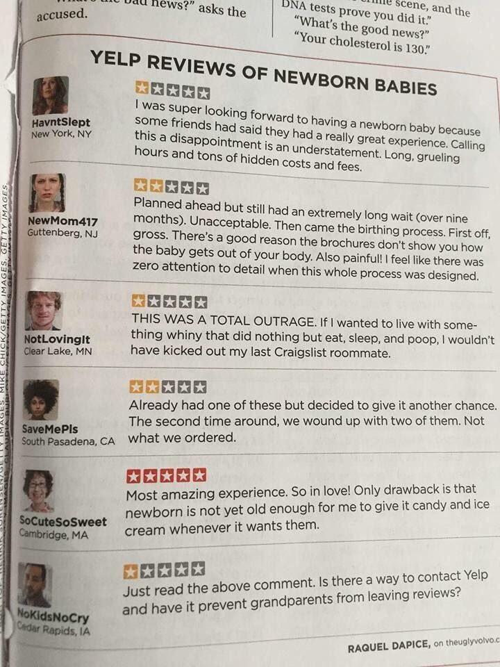 Reviews for newborn babies