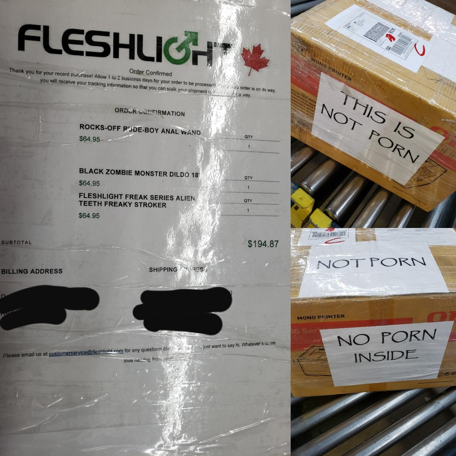 As a courier, I see some interesting things daily but this is a delivery I will never forget.