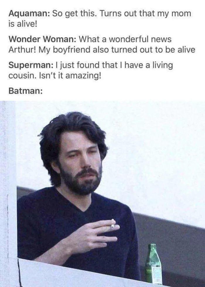 Sadness never ends fo the Batman..